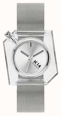 Klasse14 K14 Silber Milanese Mesh Armband 40mm WKF20SR001M