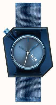 Klasse14 K14 blaues Milanaise-Netzarmband 40mm WKF20BE002M