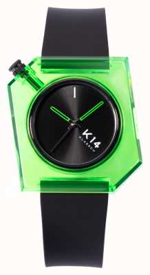 Klasse14 K14 grün avo 40mm schwarzes Silikonarmband WKF19GN001M