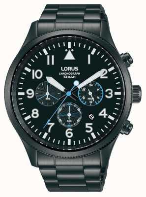 Lorus Chronograph Quarz Edelstahl schwarz plattiert RT361JX9