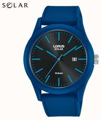 Lorus 42 mm Solaruhr blaues Silikonarmband RX305AX9