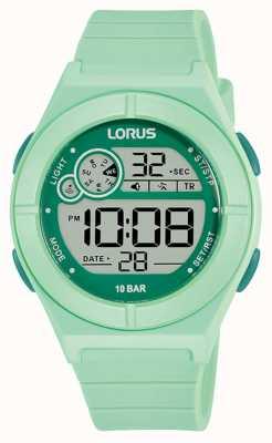 Lorus Digitaluhr mintgrünes Silikonarmband R2369NX9