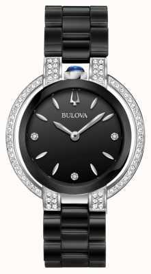 Bulova Rubaiyat | Diamant | schwarzes Zifferblatt | schwarzes Keramikarmband 98R266