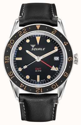 Squale Herren 300m sub 39 gmt Vintage Lederarmband SUB-39-GMT-V