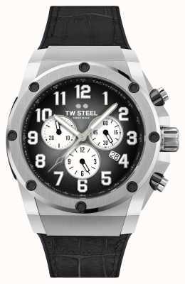 TW Steel Ace Genesis Limited Edition Armband aus schwarzem Kautschuk und Leder ACE130