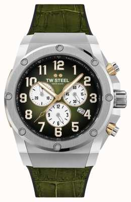 TW Steel Ace Genesis Limited Edition Armband aus Kautschuk und grünem Leder ACE131