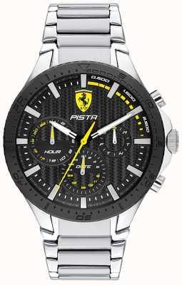 Scuderia Ferrari | Piste Doppelspur | schwarzes strukturiertes Zifferblatt | 0830854