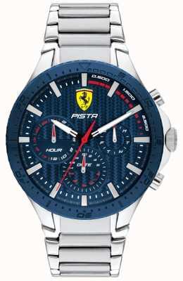 Scuderia Ferrari | Piste Doppelspur | blaues strukturiertes Zifferblatt | 0830855