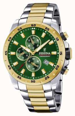 Festina Herren-Chronograph mit grünem Zifferblatt F20562/3