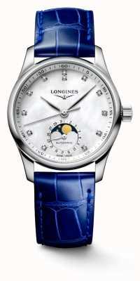 Longines Blaues Lederarmband für Damen der Master Collection L24094870
