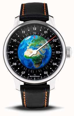 MeisterSinger Edition Planet Erde   wwf   automatisch   schwarzes veganes Armband ED-EARTH
