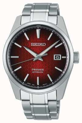 Seiko Presage scharfkantiges rotes Zifferblatt SPB227J1