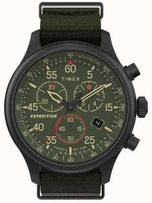 Timex Herren Expeditions-Feldchronograph mit grünem Zifferblatt TW2T72800