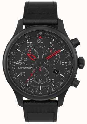 Timex Expeditions-Feldchronograph für Herren mit schwarzem Zifferblatt TW2T73000