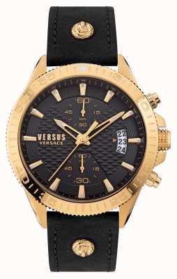 Versus Versace Versus griffith schwarzes Lederarmband VSPZZ0221