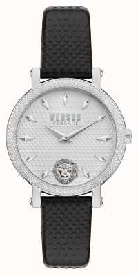 Versus Versace Versus weho schwarze Lederarmbanduhr VSPZX0121