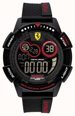 Scuderia Ferrari Apex superschnelles schwarzes Silikonarmband 0830856