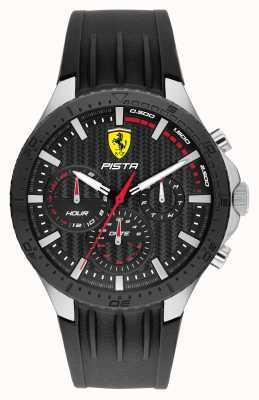 Scuderia Ferrari Pista Dual Track Silikonarmband schwarz 0830853