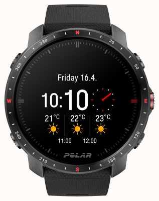Polar Grit x pro schwarzes dlc-Uhrenarmband aus synthetischem Kautschuk 90085773