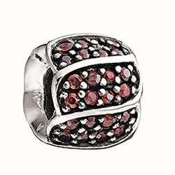 Chamilia Jeweled Blütenblätter-rot cz 2025-0620
